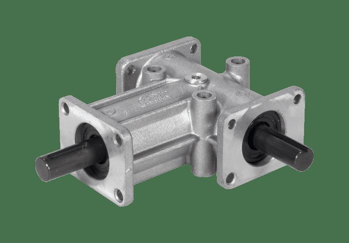Flachaufsteckgetriebe Kegelradgetriebe RL